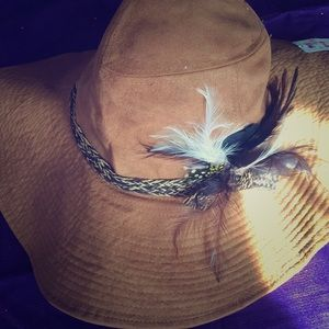 Claire's feather band summer hat